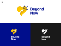 BeyondNow - Psychology / Therapy Brand blue yellow flat design logo branding