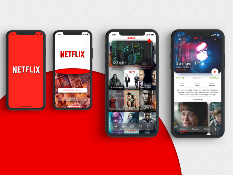 Netflix iOS Mobile Redesign. mobile app netflix ui
