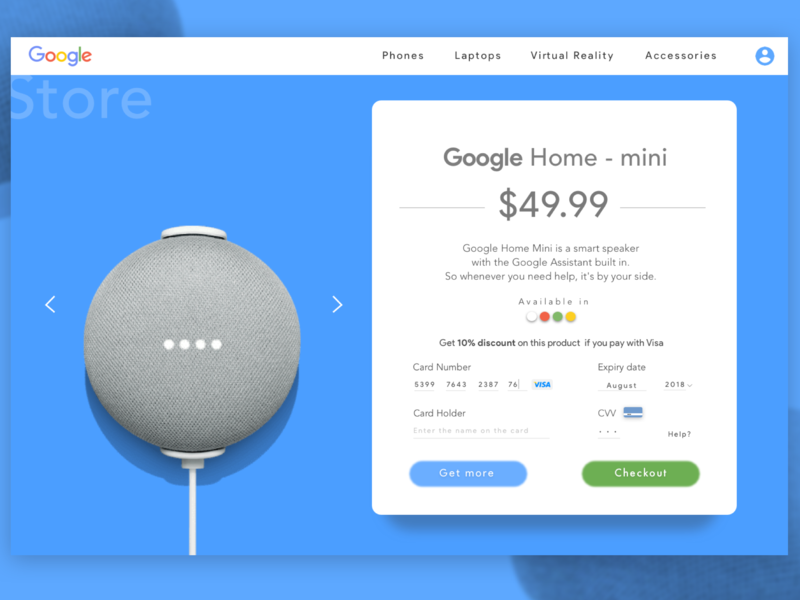 Google Home Product Page. simplicity color ux google googlehome design branding ui