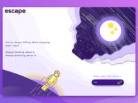 Space Escape Concept UI