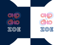 ZOE : Circles, Lines and Gradients. bright dark gradient design logo zoe