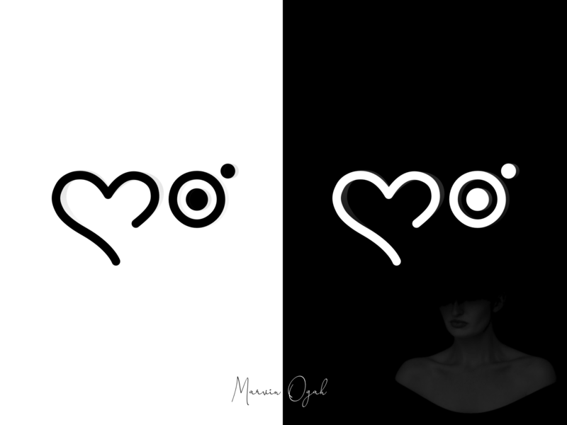 Personal Logo : For the love of Design and Photography signature logomark minimal monochrome black  white watermark camera photographer logo photographer logo love