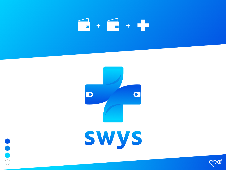 Swys - Logo for a financial platform (Rejected) wallet plus cross swiss design swiss fintech finance logo branding design