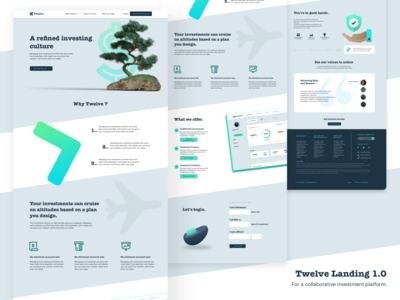 Twelve - Investment Landing Page investment tree landingpage web typography fintech ui branding design