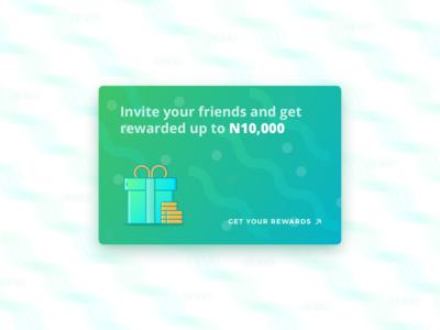 Referral / Reward Card UI