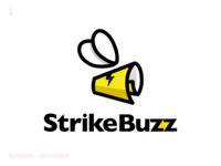 Strike Buzz - Rebound illustration icon logo branding design