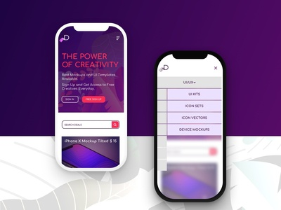 Design Deals menu concept