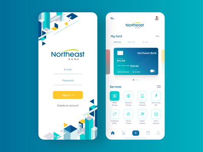 Banking App cards ios app design app designer banking statistics payment app payments credit card icon navigation colourful bitcoin wallet crypto wallet cryptocurrency app cryptocurrency financial app finance app banking app bankingapp banking service
