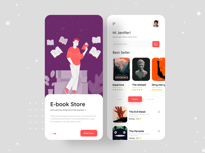 E-books App reading app audiobook learning app figma book review book reading book e-library digital technologies consulting apps screen apps design app design ebook design ux ui landing page illustration clean design