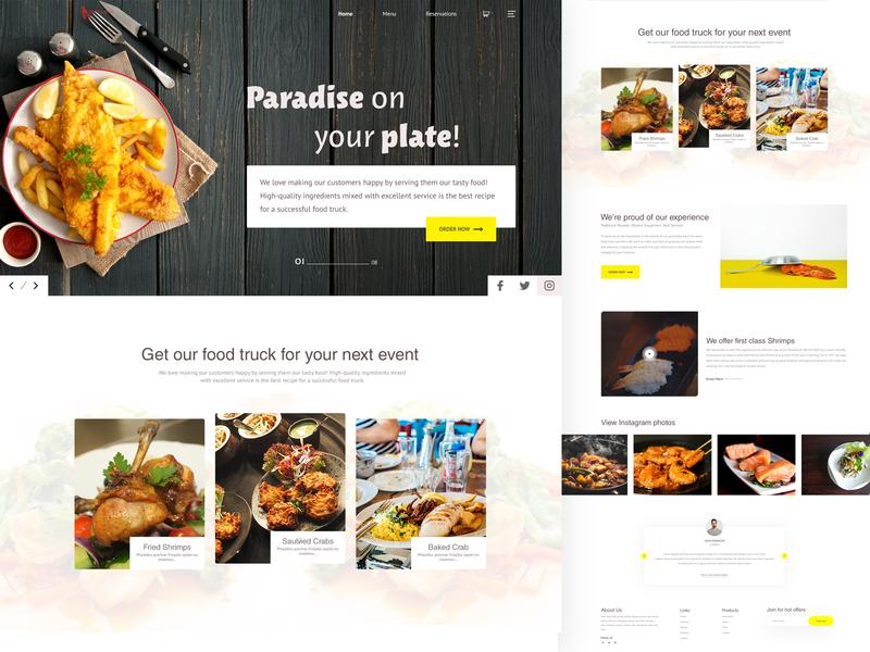 Restaurant-Landing Page restaurant design restaurant dribble web landing page dribbble best shot typography website ui ux clean design brand