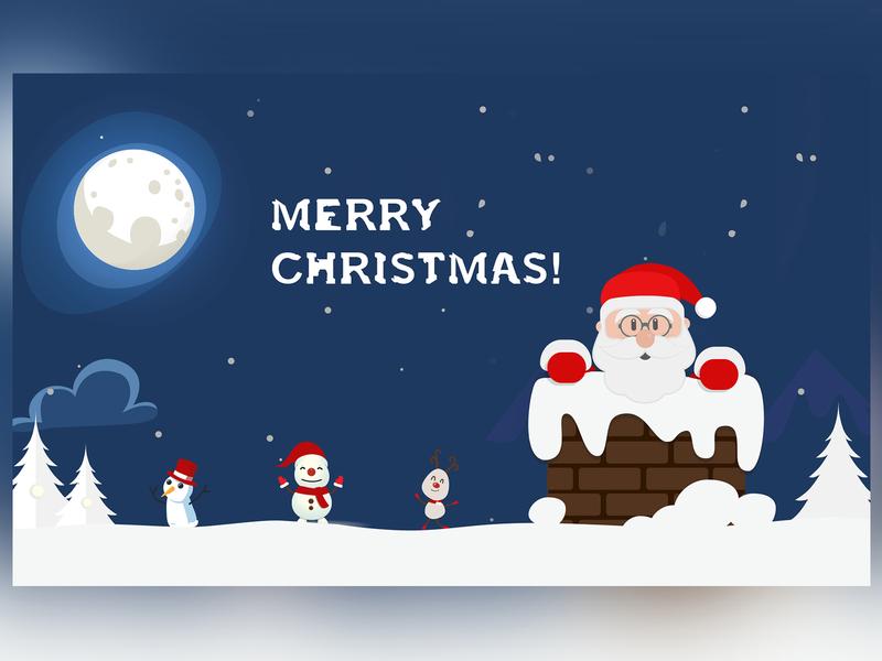 MERRY CHRISTMAS! christ christmas branding typography dribbble best shot clean illustration vector design