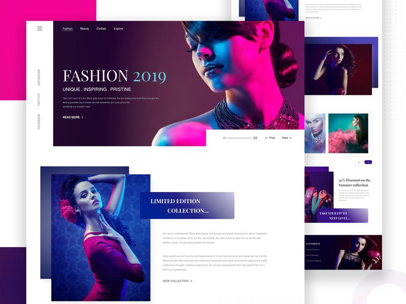 Fashion Website Exploration minimalist ecommerce responsive typography photography userinterface webdesign web website design ui  ux design one page minimal luxury landing page fashion design clothing