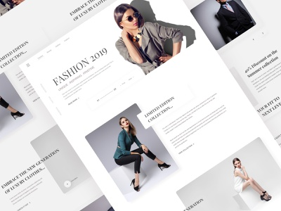 Fashion Website Exploration Version-2 ui web dribbble best shot brand website ux clean typography responsive photography minimal luxury brand luxury clothing company clothing brand landing page fashion ecommerce design clothing