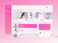 Online Course UI Dashboard