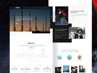 CRAN Website Redesign illustration dribbble best shot minimal landing page web website ux ui typography design