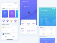 Mobile UI for Statistics App