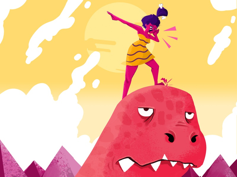 YOU ARE GOING IN THE WRONG WAY! dinosaurs psd 2d character characterdesign illustration