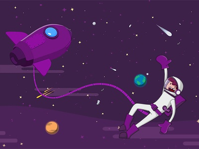 Art Direction for Ndays toonshader 2dspace 3dspaceship astronaut characterdesign illustration
