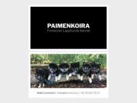 Paimenkoira Business card