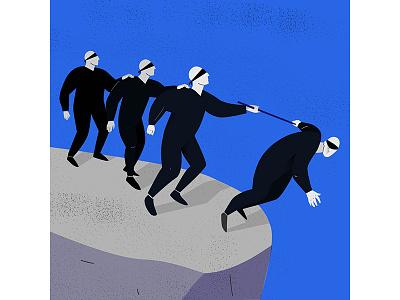Desinformation crisis blind picture crisis fakenews desinformation illustration