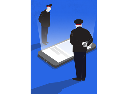 Jailed for a like arrested phone police liberty jail illustration