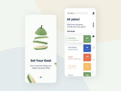 Diet App recipe healthy food food healthy health diet app diet mobile ux mobile ui mobile app design design android ios mobile app uiux mobile app ux ui illustration