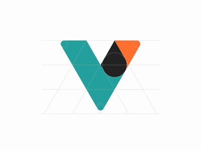 Vamba 2nd Logo Revisions orange green simple grid geometric mortgage loans mortgage after effect animation 2d animation android ux vector uiux ui minimal logo identity branding brand