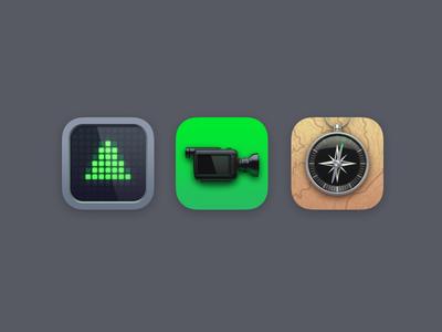 Classics 14 ticker camera compass facetime stocks ios classics iphone icons
