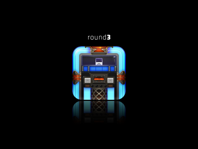 iPod icon ipod round hd round3 jukebox glowing detailed iphone
