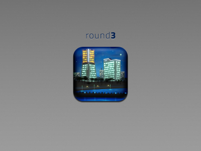 Maps maps city iphone hd icon night river lights town round3 round