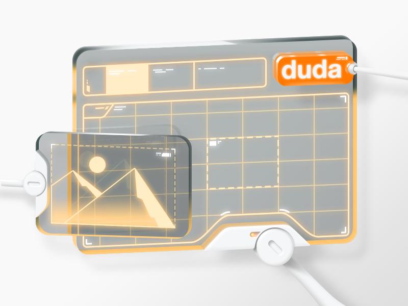 Duda 2050 vector skeuomorphism gui glass scifi duda website builder