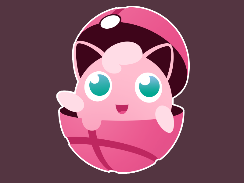 Dribbblypuff jigglypuff sticker pokemon dribbble