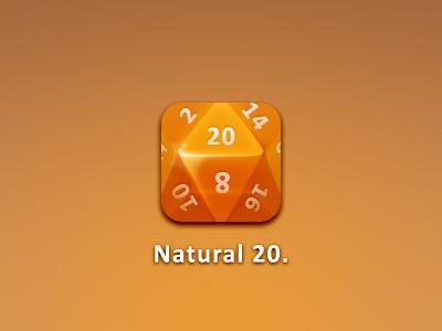 Dice dice d20 icon iphone hd orange