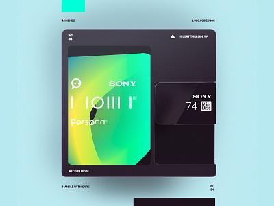 MiniDisc option 2 sony photoshop minidisc typography logo illustration simple minimal branding