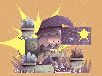 wizard beatmaker characters character merch ilustración 2d illustration vector