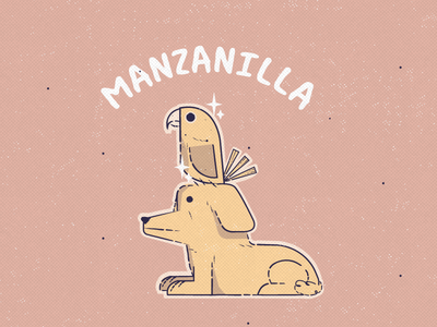 Manzanilla ai characters design arte character ilustración 2d merch illustration vector