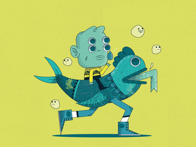 Agua web illustrator characters design arte character ilustración 2d merch illustration vector