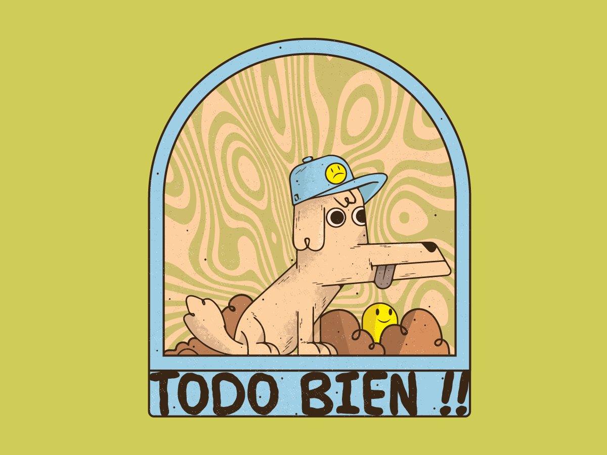 Todo bien logo characters design character ilustración merch 2d illustration vector
