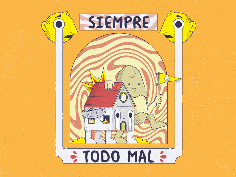 TODO MAL illustrator characters design character ilustración merch 2d illustration vector