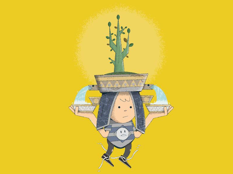 AGUA Y FE illustrator characters design character 2d illustration ilustración vector