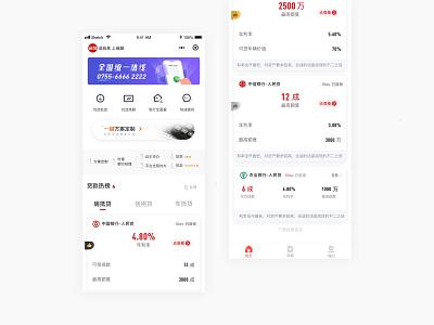 Finance APP finance bank loan web app design ui