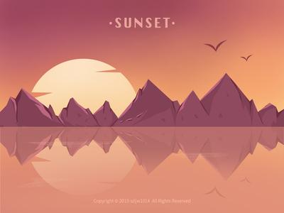 Sunset 落日