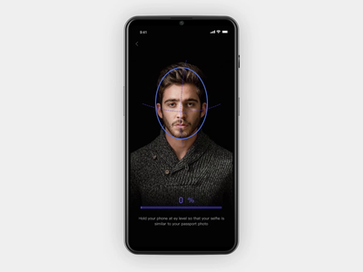 Scan/Face recognition UI