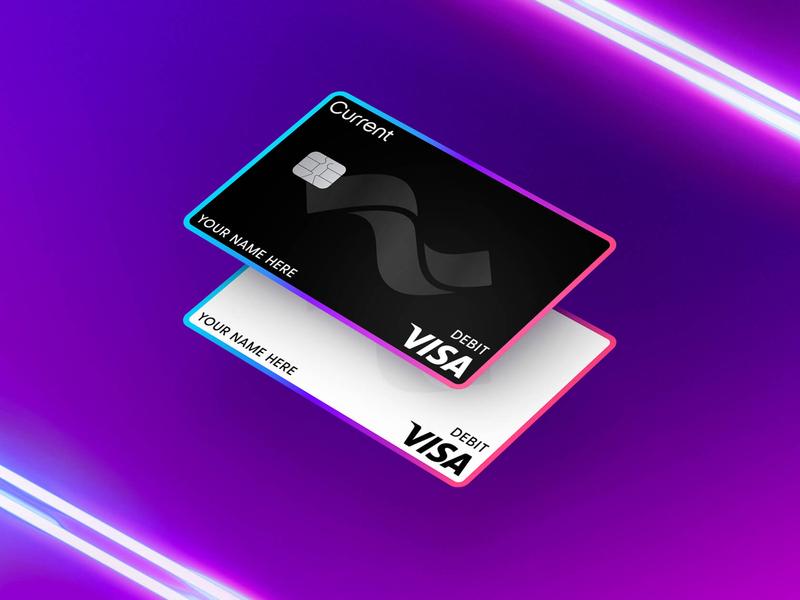 Current Debit Cards debit neon banking bank account debit card fintech finance bank