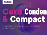 Typemates Cera Condensed and Compact #01