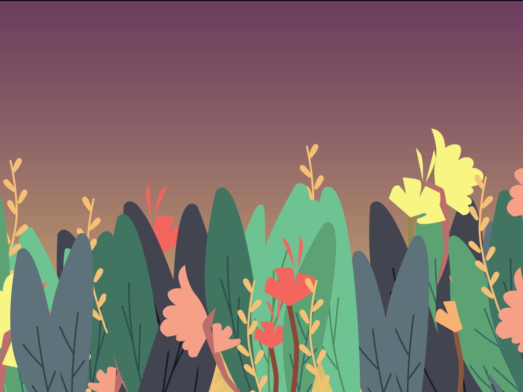 Flower Garden Web Design graphic deisgn website flat web vector design illustration