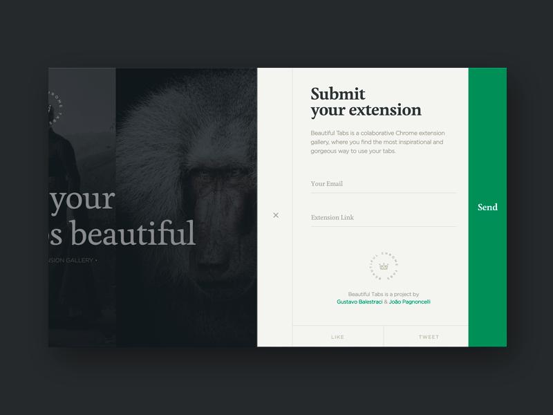 Beautiful Tabs - Form web form design tabs chrome