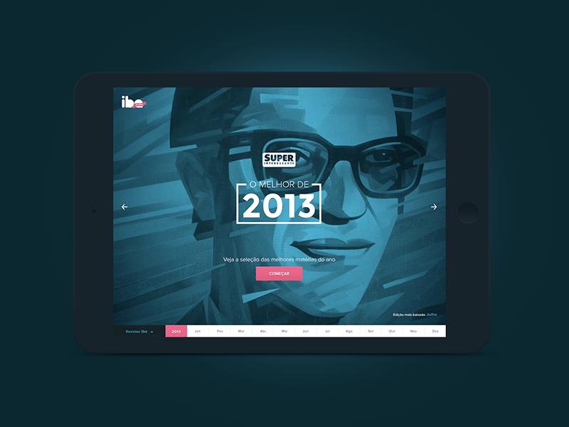 Visual concept for a magazine's year recap. interactive recap web app magazine ui visual