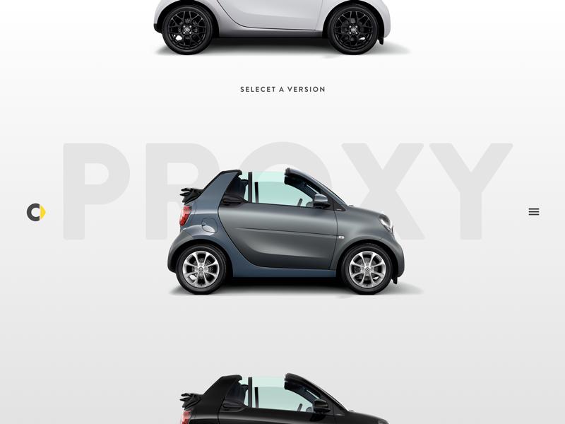 Smart - Visual Concept menu navigation car ipad framers concept visual