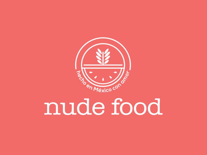 nude food vector illustration branding design logo